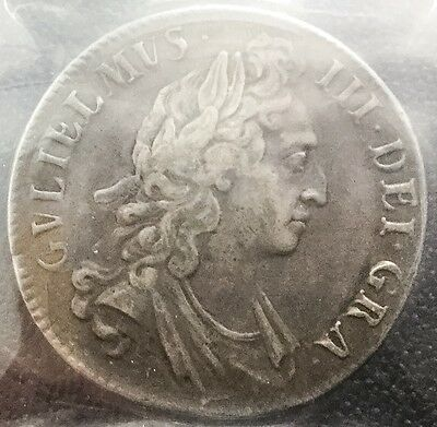 Great Britain 1695 Crown Km # 486 ICCS VF 30 Silver Crown Scarce Coin