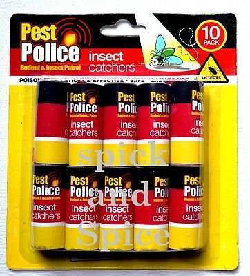 10 Pack Insect Catchers Killer Tape Strip Bug Wasp Window Fly Catcher Greenhouse
