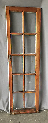 Antique Casement Transom Window Cabinet Door Shabby Cottage Chic Vtg 998-16