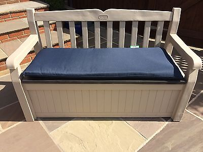 Keter Eden Plastic Garden Storage Bench Comes With Seat Pad Cushion 3 Colours