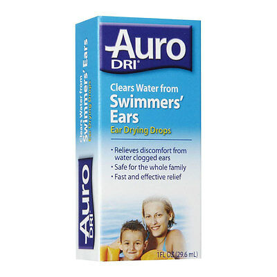 Auro Dri Ear Drying Drops Clears Water from Swimmers Ears 1 oz bottle