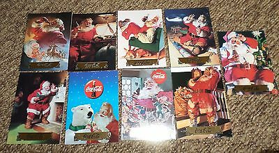 1993/94 COLLECT-A-CARD COCA COLA SERIES1&2 SANTA CLAUS GOLD FOIL/INSERTS 9 Cards