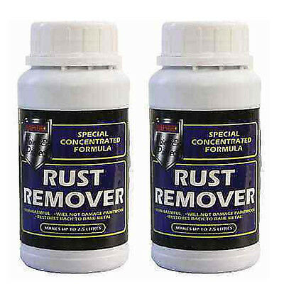 2 x RAPIDE Rust Remover Concentrated makes up to 2.5 Litres Car Bike Motorbike