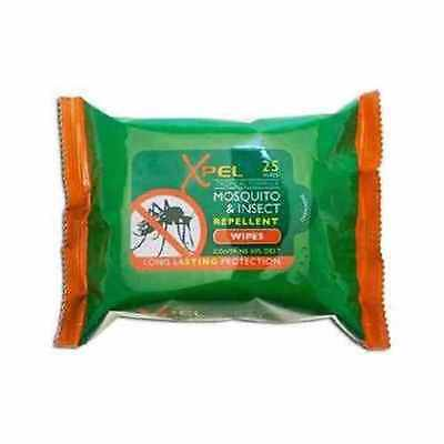 25 Xpel Tropical Formula Mosquito & Insect Repellent Wipes