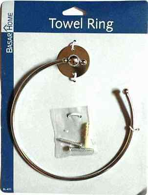 Wall Mounted Chrome Towel Ring Holder Bathroom Accessory Kitchen Clothes Fixings