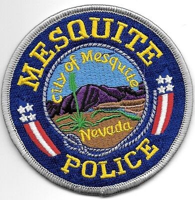 """*NEW*  City of Mesquite, NV (3.7"""" round size) shoulder police patch (fire)"""