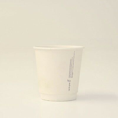 8oz PLA coated DW Cup /one-lid-fits-all 500 pcs