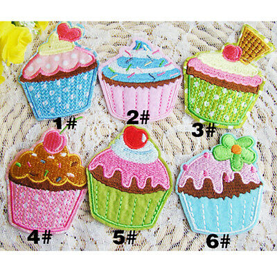 1/6X Helado Parches Pegatinas Tela Costura Bordado Ropa Bolso Decoración Patch