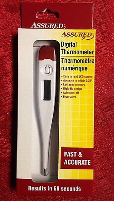 Assured Digital Thermometer Fast Accurate Results In 60 Seconds Brand New