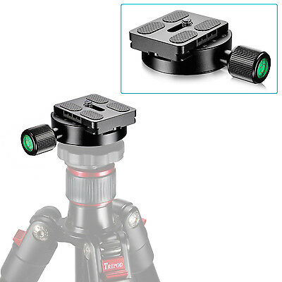 Neewer 55mm Screw Knob Clamp with 50mm Quick Release Plate for Tripod Head