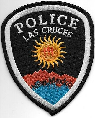 """*NEW*  Las Cruces, NM (3.75"""" x 4.75"""") shoulder police patch (fire)"""