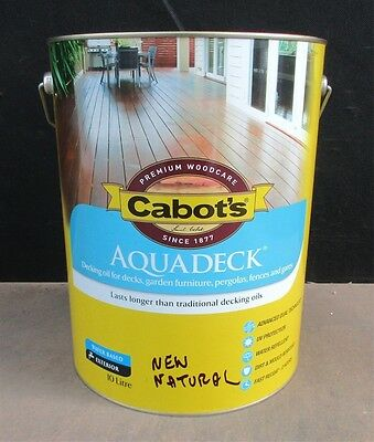 CABBOTS AQUADECK 10 LITRE NATURAL WATER-BASE DECKING OIL CLEAR  colour