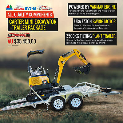 Hot Deal: Trailer and Excavator Package!