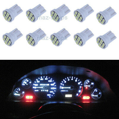 10X White Instrument Panel Cluster PC194 T10 Led Light Bulb Dashboard for Toyota