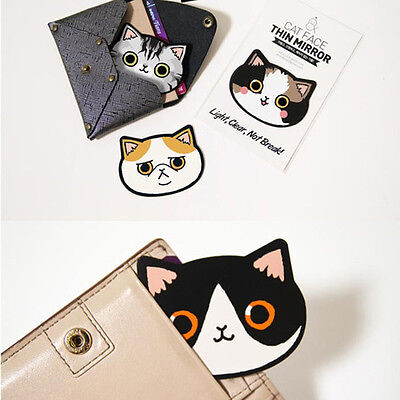 Mini Mirror Acrylic Portable Creative Pocket Multi-color Cute Cat Random Pattern