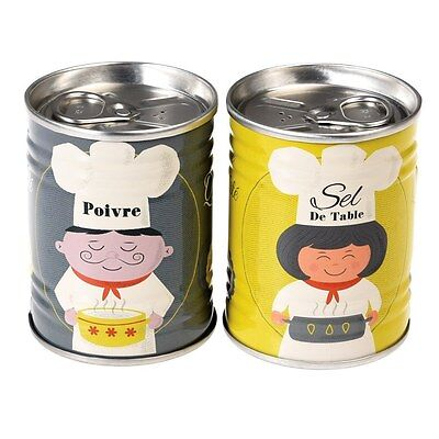 dotcomgiftshop FRENCH CHEF'S SALT AND PEPPER SET