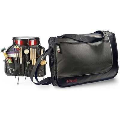 Stagg Black Professional Rugged Durable Multi Compartment SDSB17 Drum Stick Bag