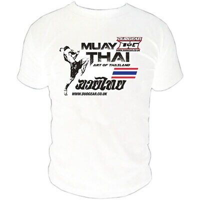 White Muay Thai Boxing 'art' T-Shirt - 100% Heavyweight Cotton