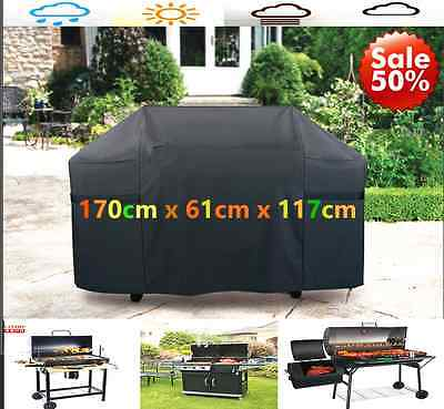 170cm Large BBQ Cover Waterproof Barbecue Covers Garden Patio Grill Protector