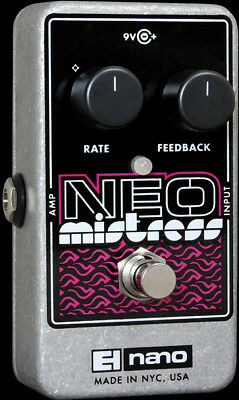 EHX Electro Harmonix NEO MISTRESS Flanger Guitar Effects Pedal / Stomp Box