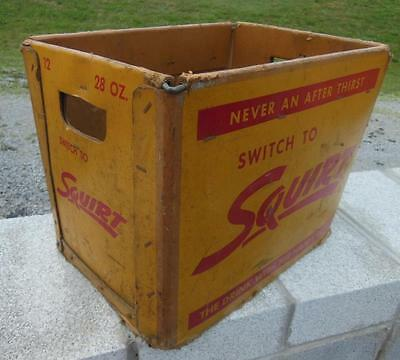 Squirt Soda Pop Cardboard Carrier Crate Grocery Dime Store Advertising Display