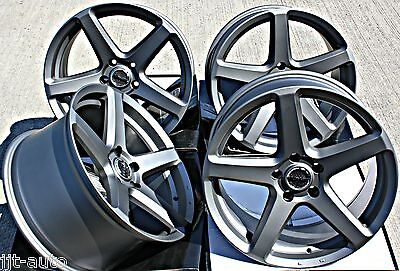 "18"" C Spec 2 Alloy Wheels Concave Staggered Gunmetal 5X112 18 Inch Alloys"