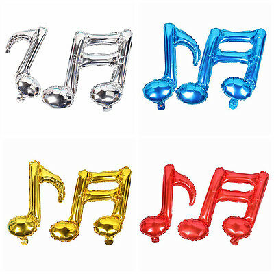 1x Foil Balloon Birthday Note Clef Musical Party Multiple Colors Kids Float |GAU