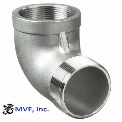 "90 Degree Street Elbow 150# 304 Stainless 2"" Npt Home Brewing  New   828Wh"