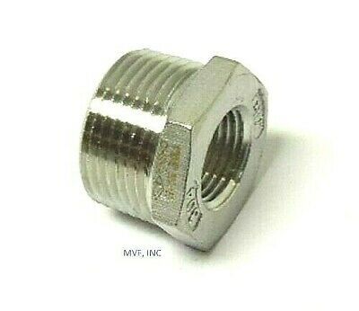 "1/2"" X 1/8"" 150# Cast Threaded (NPT) Hex Bushing 304 Stainless Steel  SS12040141"