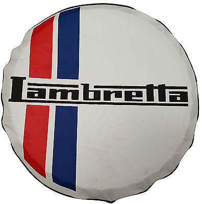 ukscooters LAMBRETTA SPARE WHEEL COVER 10 INCH WHEELS NEW GP/LI/TV/SX