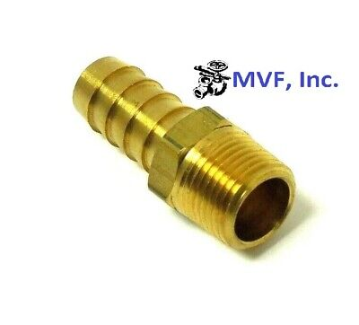 "HOSE BARB for 1/2"" ID HOSE X 3/8"" MALE NPT HEX BODY BRASS FUEL FITTING   201A-8C"