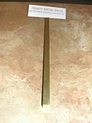"1/2"" X 1/2"" Brass Square Bar X 12"" C360 1 Pc Best Price Best Rated Seller!"
