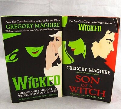 Wicked & Son of a Witch Paperback Books Lot of 2 Gregory Maguire Oz West