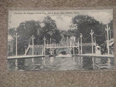 Shooting the Chutes, White city, Savin Rock, New Haven, Conn. used vintage card