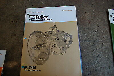 Eaton fuller transmission rt 1110 series parts list book 900 eaton fuller rt 8609 series transmission parts manual book catalog spare truck ccuart Choice Image
