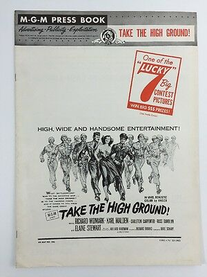 TAKE THE HIGH GROUND Complete Pressbook & Herald (VF) 1953 Movie Poster Art 9111