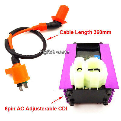 Racing Adjusterable AC CDI Ignition Coil For 50cc 125cc 150cc ATV Scooter Moped