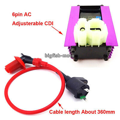 Adjusterable AC CDI Ignition Coil For 50cc 125cc 150cc Scooter Moped ATV Quad