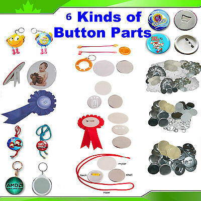"2-1/4"" 58MM 6 Kinds Badge Button Parts Material for Maker Pin Back GOOD"