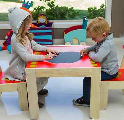 Labebe Hip Kids Owl Fox Wooden Table and 2 Chairs ChildrenToddler Furniture Set