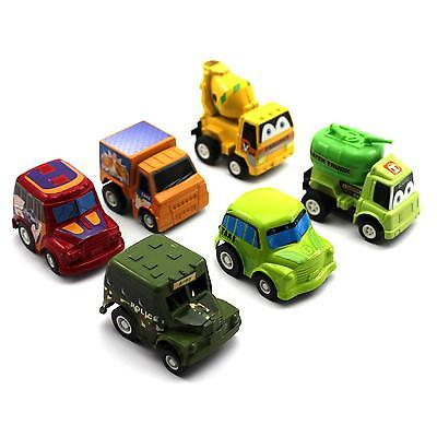 6 Pcs Toddler Kids Child Gift Pull Back Mini Running Cars Model Educational Toy