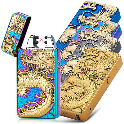 Electric Lighter Double ARC PULSE LIGHTER USB Rechargeable Flameless Plasma,