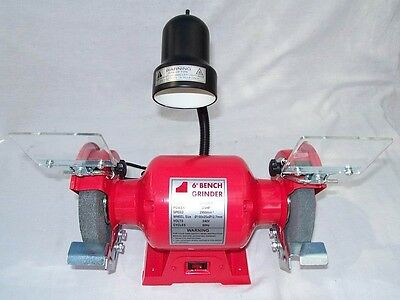"""6"""" Bench Grinder 3/4 HP with Work Light - Includes Fine & Coarse Wheels"""