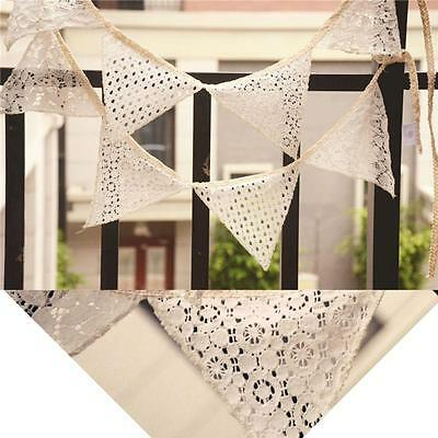 Fabric Triangle Flags Pennant Banner Bunting Birthday Party Wedding Decoration