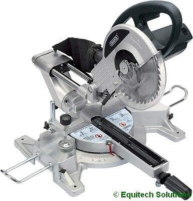 "Draper Tools 52947 Sliding Compound Mitre Saw 10"" 250mm 2100W 230V Laser Guide"
