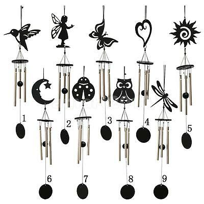 Metal Wind Chime 3 Tubes Bell Garden Yard Outdoor Hanging Decor 9 Types