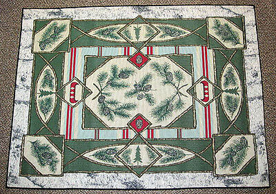 Camp Woodland Lodge Decor Tapestry Accent Rug