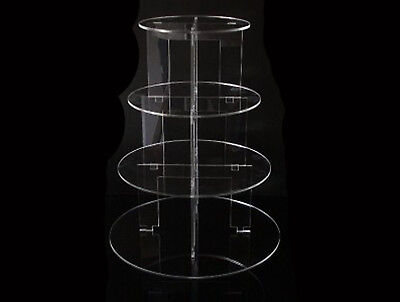 Classikool 4 Tier Circle Acrylic Cup Cake Party Wedding Stand - TK4C