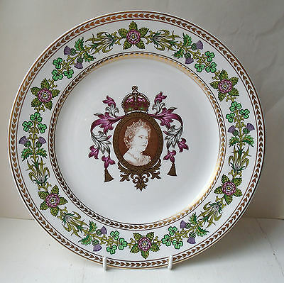 "Spode Plate : QUEEN MOTHER : 80th Birthday : 10.75"" : Lim Ed 1000"