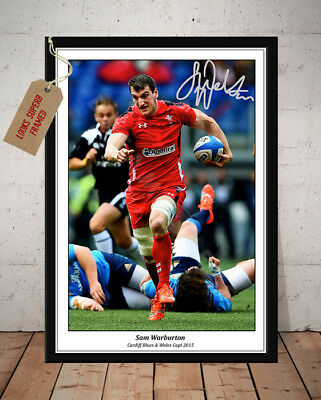 Sam Warburton Wales Rugby Six Nations Autographed Signed Photo Print
